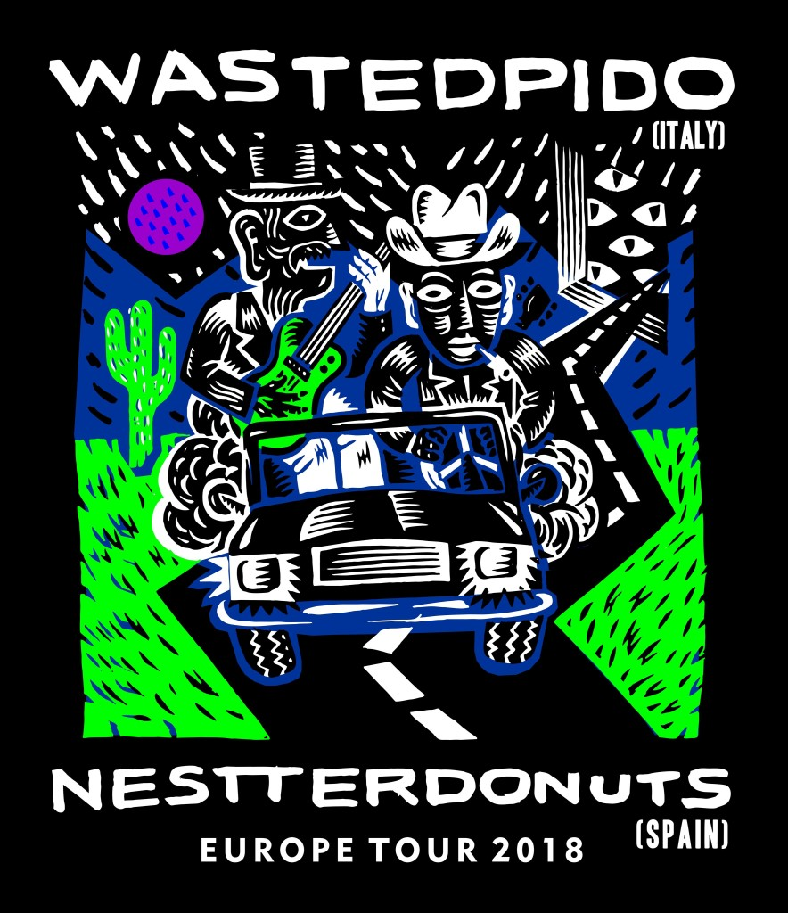 Wasted_Pido / Nestter_Donuts europe_tour_2018_poster_by Klaus_Koti